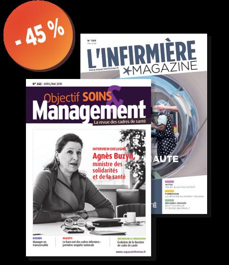soldes revue L'infirmière magazine et Objectif soins et management - abonnement