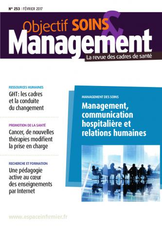 Objectif Soins et Management couverture